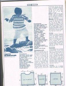 Toujours issu du n° 44, une layette en 1,2 ou 3 ans : ouvrage Betty Mertens, photos Tony Kent Les petits moussaillons seront bien à la plage ! Merci à ESTHER ! EDIT du 17/09/13 l'erreur du fichier illisible est réparée !