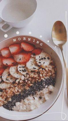 Healthy Breakfast - New Ideas Healthy B. - Healthy Breakfast – New Ideas Healthy Breakfast - Healthy Breakfast Recipes, Healthy Recipes, Healthy Morning Breakfast, Morning Food, Snap Food, Aesthetic Food, Summer Aesthetic, Food Inspiration, Story Inspiration