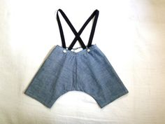 Selvage Chambray Suspender Play Pant by HarrietsHaberdashery