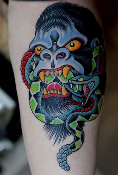 traditional gorilla tattoos - Google Search