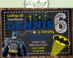 SALE Batman Inspired Birthday Invitation by DestinationInvite
