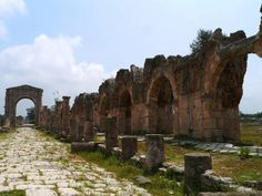 Lebanon, Tyre, The Road to The Triumphal Arch,  Al Bass Archaeological Site, Tyre