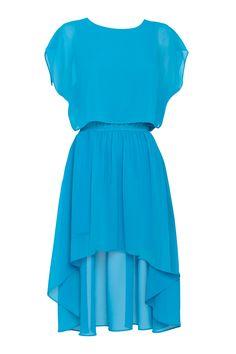 blue fortune blouson mullet dress EXCLUSIVE | CottonOn