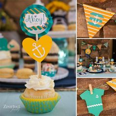 Nautical Baby Shower Decor - Project Nursery