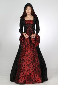 Gothic Wedding Dress with a medieval feel - love it.