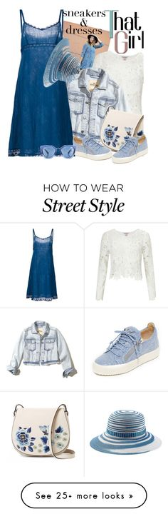 """""""That girl, sneakers and dresses"""" by no-where-girl on Polyvore featuring Miss Selfridge, Hollister Co., Dosa, Missoni Mare, French Connection, Giuseppe Zanotti, Prada and SNEAKERSANDDRESSES"""
