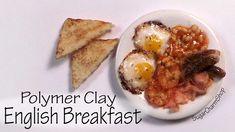 Miniature English Breakfast - Polymer Clay Tutorial