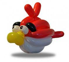 une sculpture de ballon gonflable par jour angry bird   une sculpture de ballon gonflable par jour pendant un an   Sculpture Rob Driscoll ph...