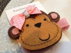 Toddler Monkey Hair Clip  Baby Hair Clip  Sassy by katelynnskloset, $3.50. Bought this for Maya!