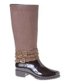 Brown Amazon Rain Boot by Passions Footwear #zulily #zulilyfinds - maybe for the italy trip???  Rainy March