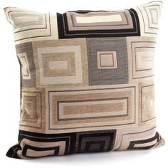 Canopy Squares & Rectangles Accent Pillow with Sustainable Fill, Brown