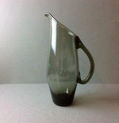 Vase Rauchglas Krug Mit Century Wagenfeld Zeit 50/60er Jahre Glasvase Glaskrug  | eBay