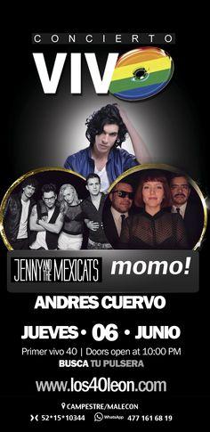 Jenny and the Mexicats, Momo y Andrés Cuervo en Cocó Fashion Club