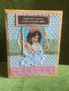 A personal favorite from my Etsy shop https://www.etsy.com/listing/265564361/card-handmade-shabby-chic-easter