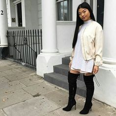 OOTD: @cabrini_roy -- 🌹 She's wearing our Boots (available online)  Shop link in bio