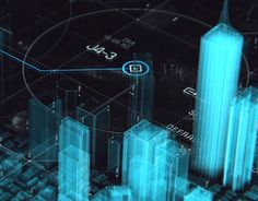 An everyday by Lorcan oshahanahan of a holographic city being scanned into a digital environment