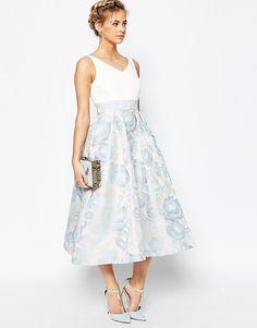 Image 1 ofCoast Alessia Midi Dress in Pale Blue