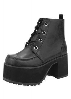 TUK Shoes 4 Eye Nosebleed Split Stack Boot | Attitude Clothing