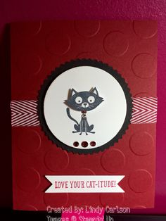 "Stampin Up ""you little Furball"""