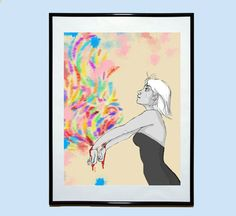 Bleeding Colors Original Art Illustration Poster by EstefAzevedo