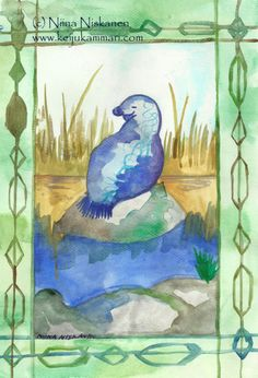 """Aceo print based on my original watercolor painting called """"Saimaa Seal"""". Saimaa seals are one of the most endangered sea mammal species in Finland. Seals are beautiful animals and I love painting them Printed on paper with archival inks. Colors are jus Watercolor Artists, Watercolor Paintings, Original Paintings, Trading Card Sleeves, Illustration Artists, Art Illustrations, Artist Card, Love Painting, Animals Beautiful"""