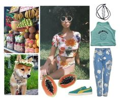 """""""vegan and thriving"""" by graveyardgirlz ❤ liked on Polyvore featuring GET LOST, Puma, Brandy Melville and Topshop"""