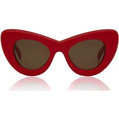 Celine Large Red Papillon Cat Eye Sunglasses