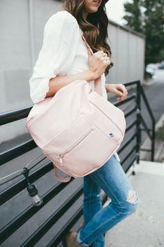 Fawn Design diaper bag in blush