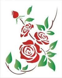 Resultado de imagen para stencil de rosas