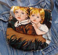 Handmade medium size handbag made from French by sissidavril, $65.00
