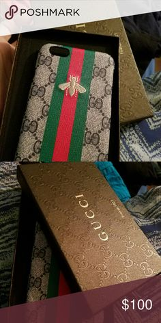 Gucci Iphone 6s plus case NOT AUTHENTIC.  Very high quality comes with box never used. gucci  Other