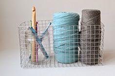 Cesta de malla de metal DIY | Aprender manualidades es facilisimo.com