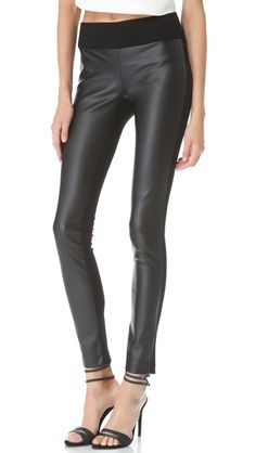 these are SICK.  tasha faux leather with stretch jersey in the back legging - come in black, burgundy, and navy. by club monaco.  $149