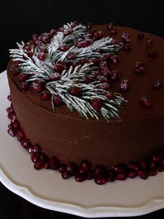 Karácsonyi csokitorta Xmas, Christmas, My Recipes, Food And Drink, Chocolate, Cooking, Cake, Advent, Weihnachten