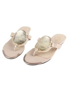 Pink Metal Decorative Flip - flops