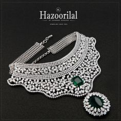 Cast a spell with this spectacular necklace. Tastefully crafted and artistically set, cluster of #diamonds surrounding graceful emeralds.