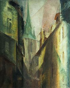 "Lyonel Feininger ""Roter Turm I"", 1930 (Germany, Cubism, 20th cent.)"