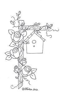 birdhouse & roses