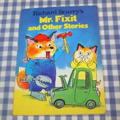 richard scarry's mr. fixit and other stories, vintage 1978 children's mini book on Etsy, $6.25