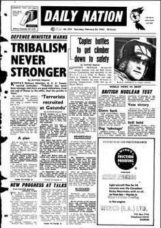 Daily Nation Newspaper 1962