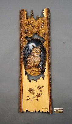 Wooden Gift Owl Carved Wood Carving Wall Art  Wooden Bird Decoration Unique Gift To Nature lovers Wall Hanging Sculpture by Davydovart