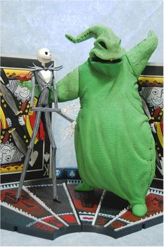 NMBC Jack Skellington vs Oogie Boogie action figures - Another Toy Review by Michael Crawford, Captain Toy