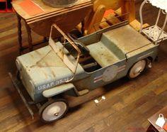 Vintage pedal car jeep