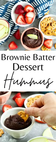 This brownie batter dessert hummus is a delicious and healthy treat. It's super easy to make and your whole family will love it!
