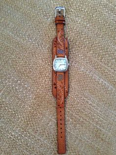Women's Vintage Fossil Leather Cuff Watch #Fossil