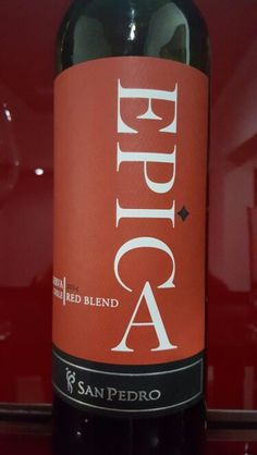 Epica Blend 2014 San Pedro winery Chile