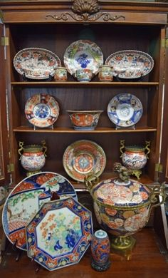 A colourful collection of Japanese Imari #imari #japanese