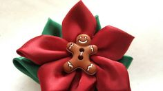 Check out this item in my Etsy shop https://www.etsy.com/listing/471631724/christmas-flower-bow-satin-bow-barrettes