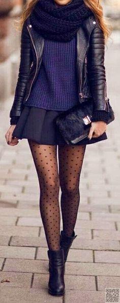 20. jupe et #foulard - 33 tenues #magnifiques qui inspireront #votre garde-robe d'hiver... → #Fashion
