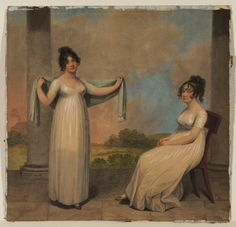 1800 Adam Buck - Two young ladies on a terrace